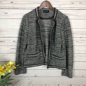 Talbots Marble Tweed Trim Blazer - T8